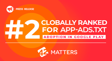 Tappx globally ranked for app-ads.txt adoption in google play